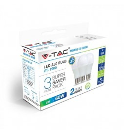 SUPER SAVER PACK CONFEZIONE 3 LAMPADINE LED E27 9W BULB A60 - SKU 7240 / 7241 / 7242