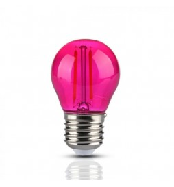 LAMPADINA LED E27 2W MINIGLOBO G45 COLORATA FILAMENT -  VT-2132 - SKU 7410 / 7411 / 7412 / 7413