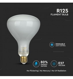 LAMPADINA LED E27 8W BULB REFLECTOR R125 FILAMENT DIMMERABILE - VT-2198D - SKU 7466 / 7467 / 7468