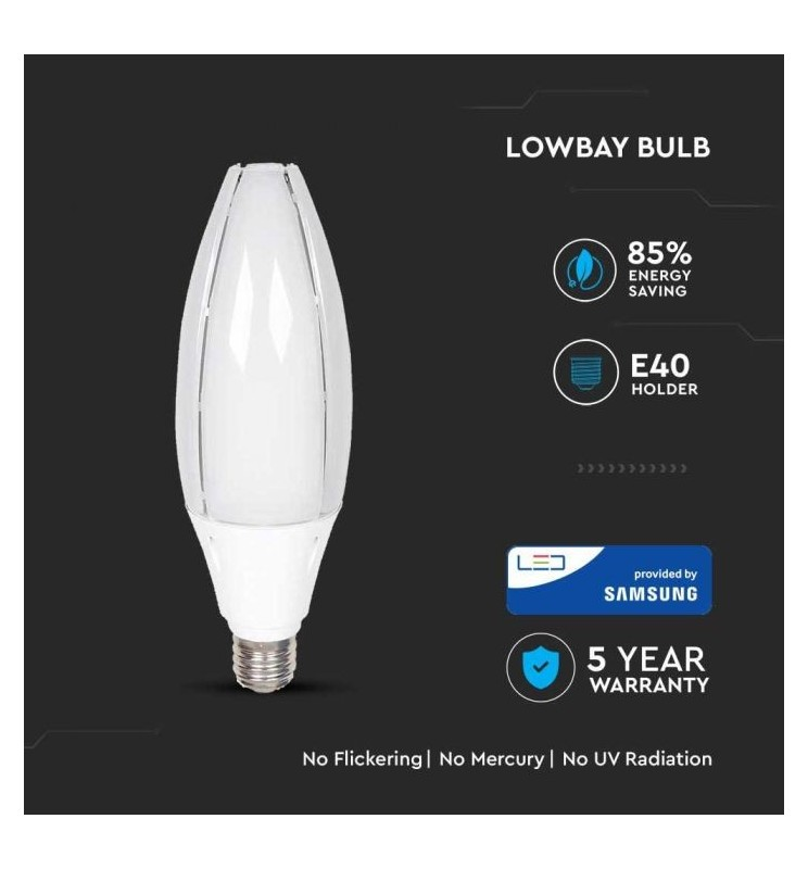 LED Lampada SAMSUNG Chip 60W E40 Olive Lamp VT-260 SKU: 187/ 188
