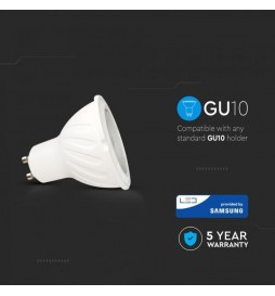 LAMPADINA LED GU10 6W FARETTO SPOTLIGHT CHIP SAMSUNG VT-249 SKU: 20026/ 20027/ 20028