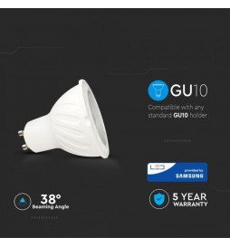 LAMPADINA LED GU10 7W FARETTO SPOTLIGHT CHIP SAMSUNG VT-277 SKU: 165/ 166/ 167