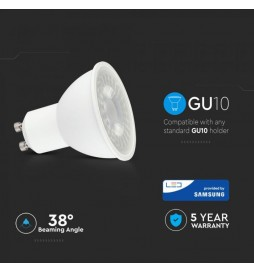LAMPADINA LED GU10 8W FARETTO SPOTLIGHT CHIP SAMSUNG VT-291 SKU: 875/ 876/ 877